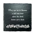 Irish Coat of Arms Slate Coaster Blessings - Set of 4