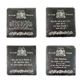 Irish Coat of Arms Slate Coaster Blessings & Sayings - Set of 4