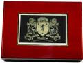 Irish Coat of Arms Cedar Cigar Humidor | Irish Rose Gifts