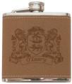 Irish Coat of Arms Leather Flask | Irish Rose Gifts