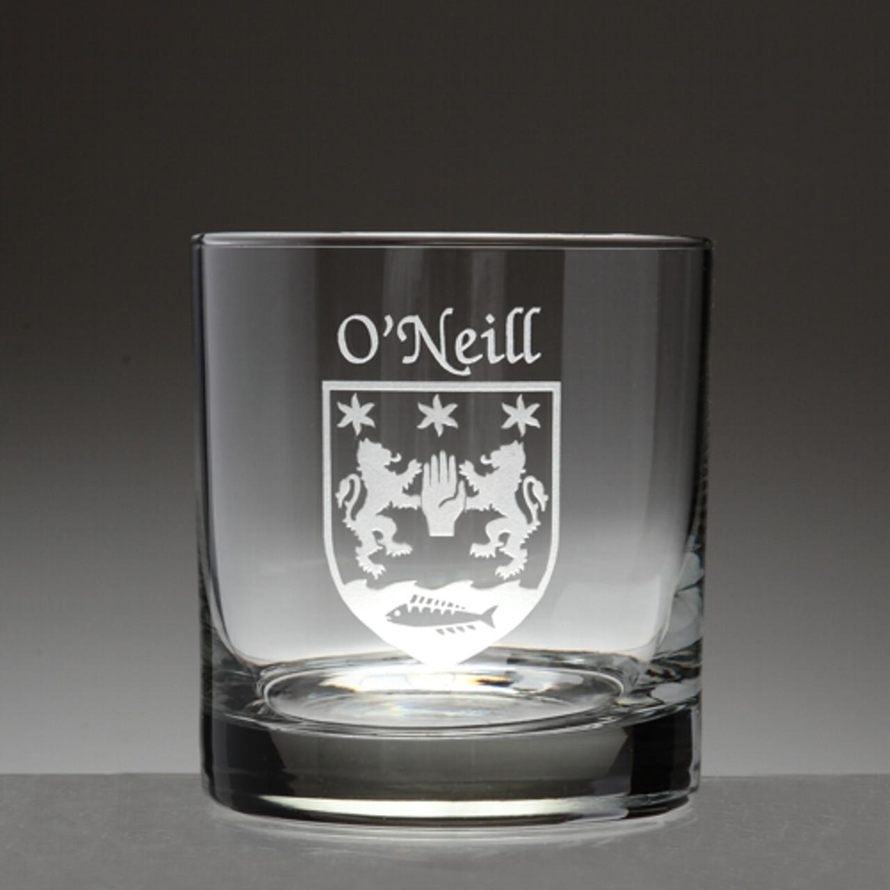Phelan Irish Coat of Arms Wine Glasses Sand Etched Set of 4