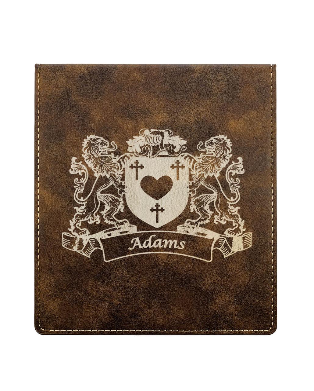McMillan Irish Coat of Arms Rustic Brown Coasters Set of 4