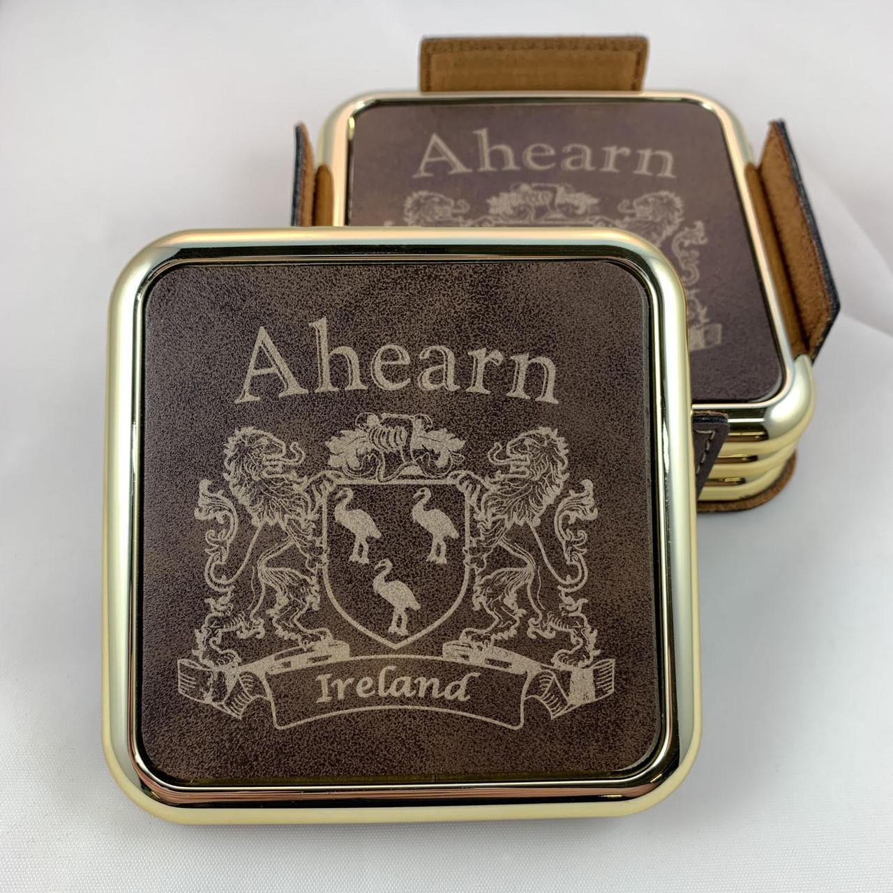 Set of 4 Henderson Irish Coat of Arms Slate Coasters