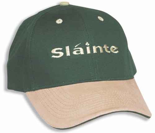 Irish Slainte Two-Tone Cap Green   Irish Rose Gifts