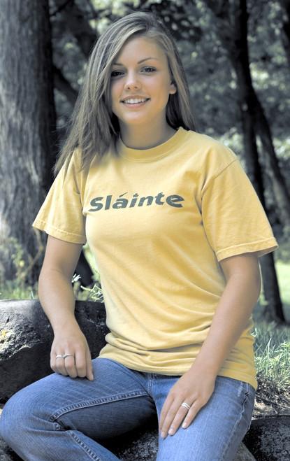 Irish Sláinte Tee Shirt in Mustard