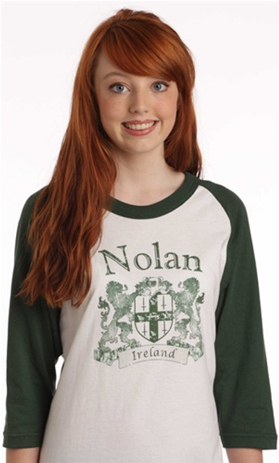 Vintage Coat of Arms Jersey 3/4 sleeve 2-tone | Irish Rose Gifts