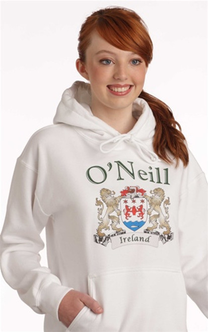 Irish Coat of Arms Hooded Sweatshirt | Irish Rose Gifts