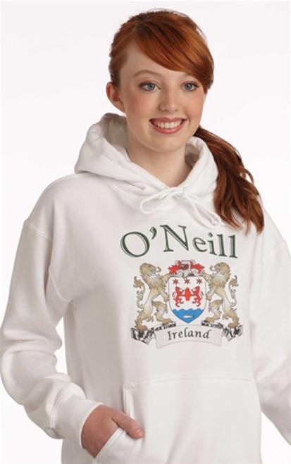 Irish Coat of Arms Hooded Sweatshirt   Irish Rose Gifts