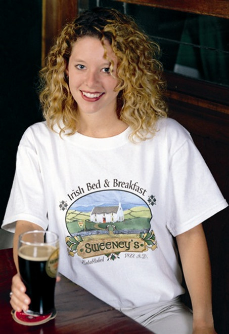 Personalized Irish Bed & Breakfast Tee Shirt | Irish Rose Gifts
