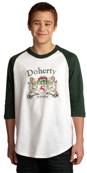 Irish Coat of Arms Jersey Tee 3/4 sleeve | Irish Rose Gifts