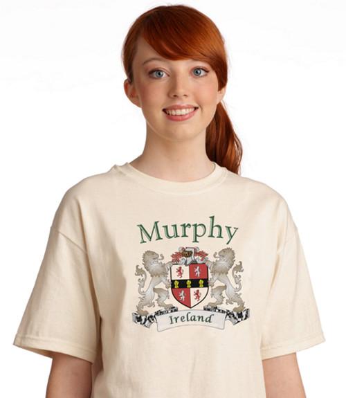 Irish Coat of Arms Tee Shirt Natural | Irish Rose Gifts