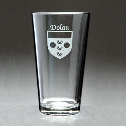 Irish Coat of Arms Pint Glass - Set of 4 (Sand Etched)