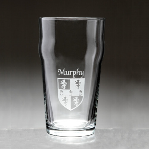 Irish Coat of Arms Pub Glass - Set of 4 (Sand Etched)