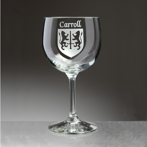 Irish Coat of Arms Red Wine Glass Set - Set of 4 (Sand Etched)