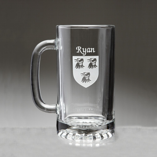 Beer Mug with Irish Coat of Arms (Sand Etched)