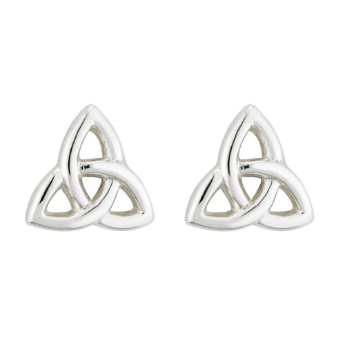 Small Trinity Knot Stud Earrings - Sterling Silver