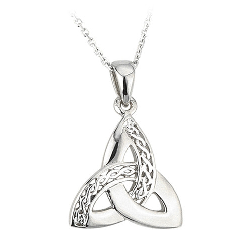 Celtic Trinity Knot Necklace - Sterling Silver