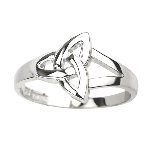 Ladies Trinity Knot Ring - Sterling Silver by Solvar