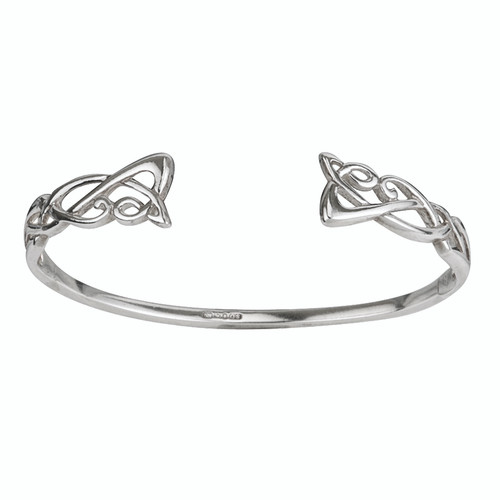 Sterling Silver Torc Bangle Bracelet