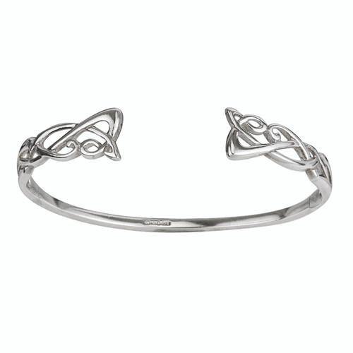 Sterling Silver Torc Bangle Bracelet
