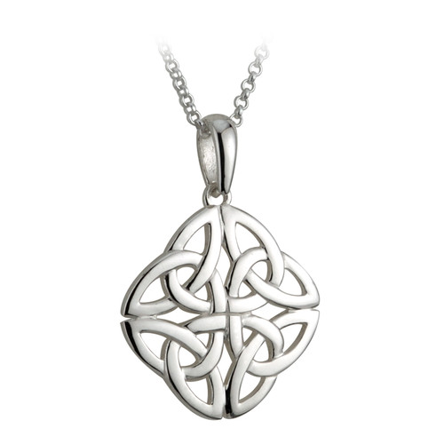 4 Trinity Knot Necklace - Sterling Silver by Solvar Jewelry box