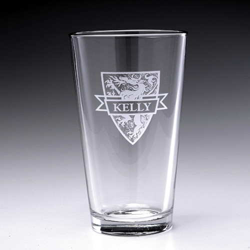 Personalized Griffin Pint Glass ,16oz - Set of 4 (Sand Etched)