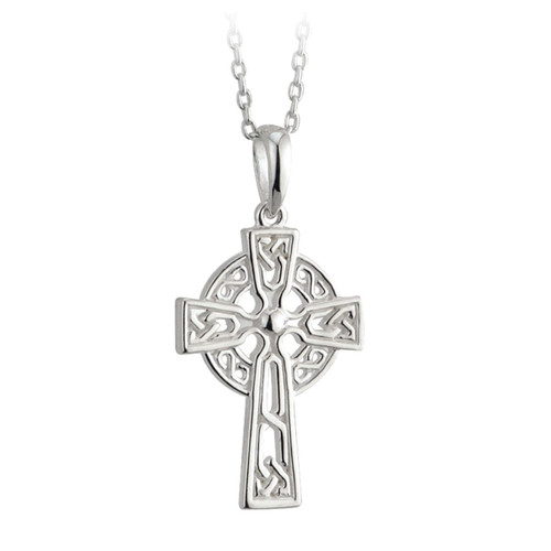 Filagree Celtic Cross Pendant - Solvar Jewelry Made in Ireland