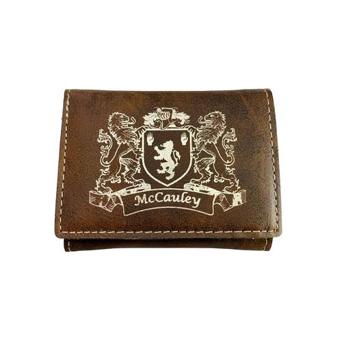 Lindsey Heraldry Surname Coat Of Arms Brown Leather Keyring Engraved