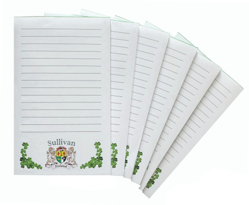Irish Coat of Arms Lined Notepads - Set of 6