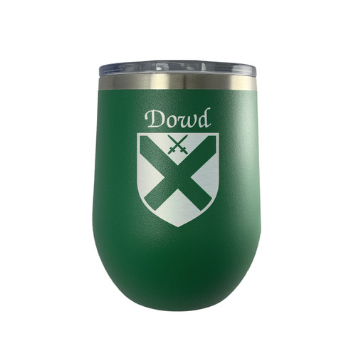 Irish Coat of Arms Stemless Wine Tumbler - Green