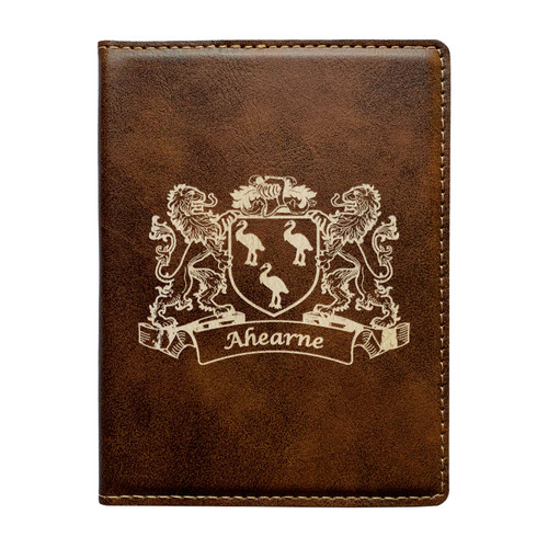 Irish Coat of Arms Leather Passport Wallet