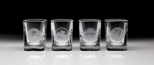 Irish Shot Glasses Variety Pack - Set of 4