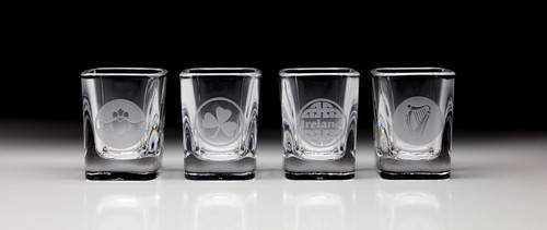 Irish Shot Glasses Variety Pack - Set of 4