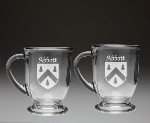 Irish Coat of Arms Glass Coffee Mugs - Set of 2