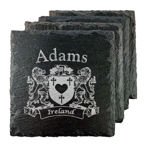 Irish Coat of Arms Slate Coasters - Set of 4
