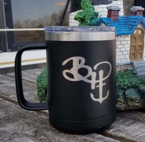 Brethren of the Harbour Travel Mug with Handle - Pirate Black