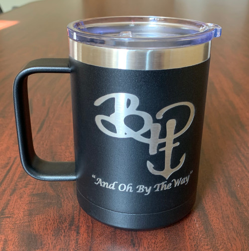 Personalized - Brethren of the Harbour Travel Mug with Handle(set of 2) - Pirate Black