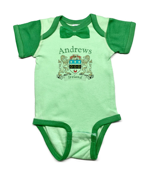 Irish Coat of Arms Baby Bowtie Onesie