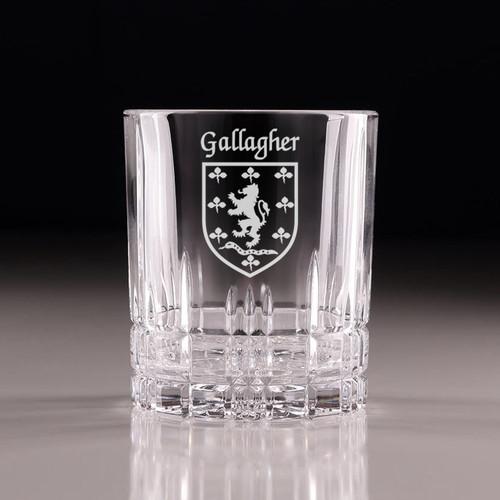 Irish Coat of Arms Cut Glass Tumblers - Set of 4