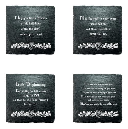 Irish Blessing Slate Coasters - Set of 4