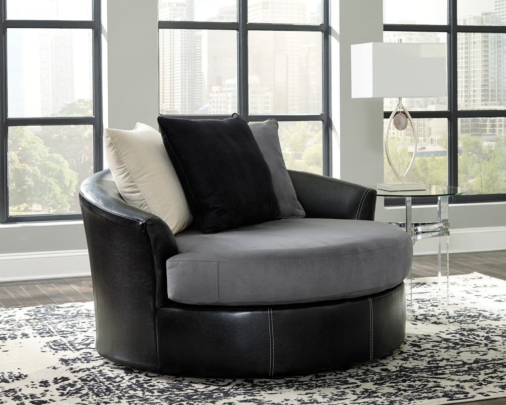 The Jacurso Oversized Swivel Accent Chair