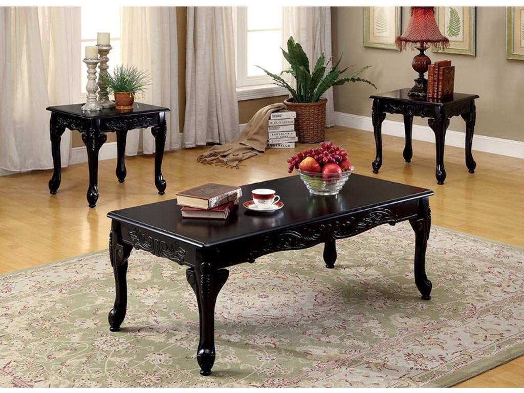 - The Chesire Black Coffee Table Set - Miami Direct Furniture