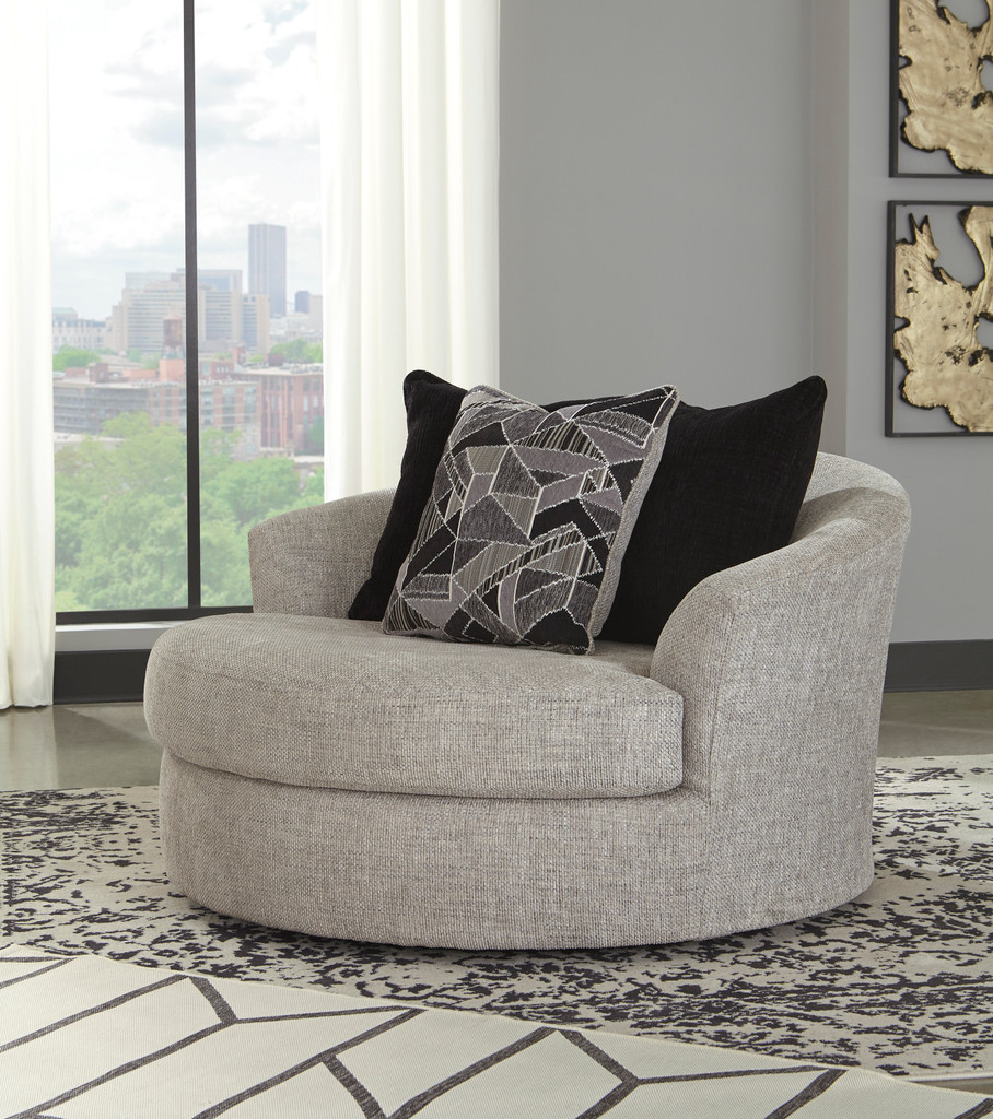 Image of: The Megginson Round Oversized Swivel Chair Miami Direct Furniture
