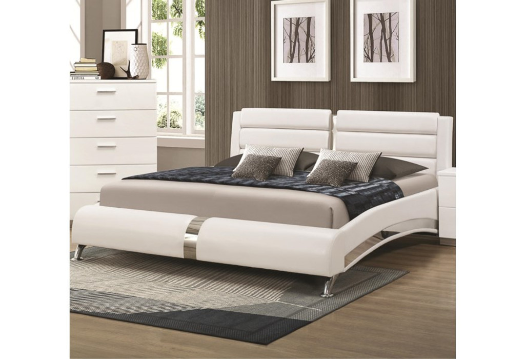Picture of: The Felicity White Upholstered Bed Miami Direct Furniture