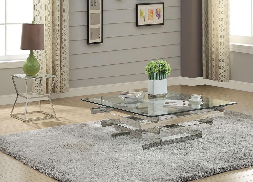 The Salonius Glass Top Coffee Table Set Miami Direct Furniture