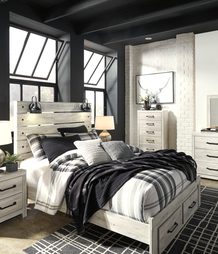 The 7pc Cambeck Storage Bedroom Collection