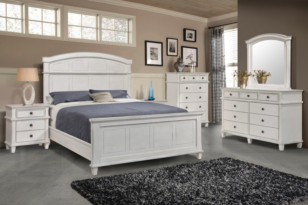 The Carolina Antique White Bedroom Set Miami Direct Furniture