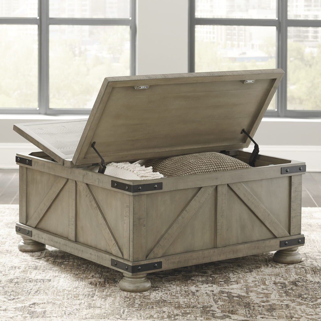The Aldwin Coffee Table Set W Storage Miami Direct Furniture