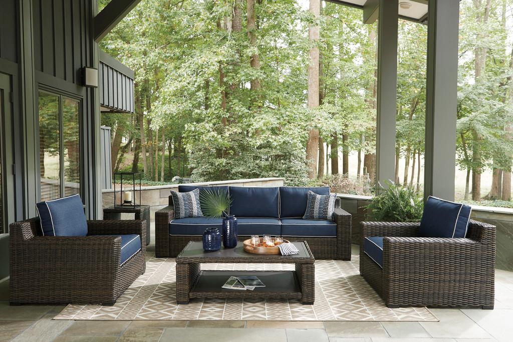 The Grasson Sofa 5pc Patio Set