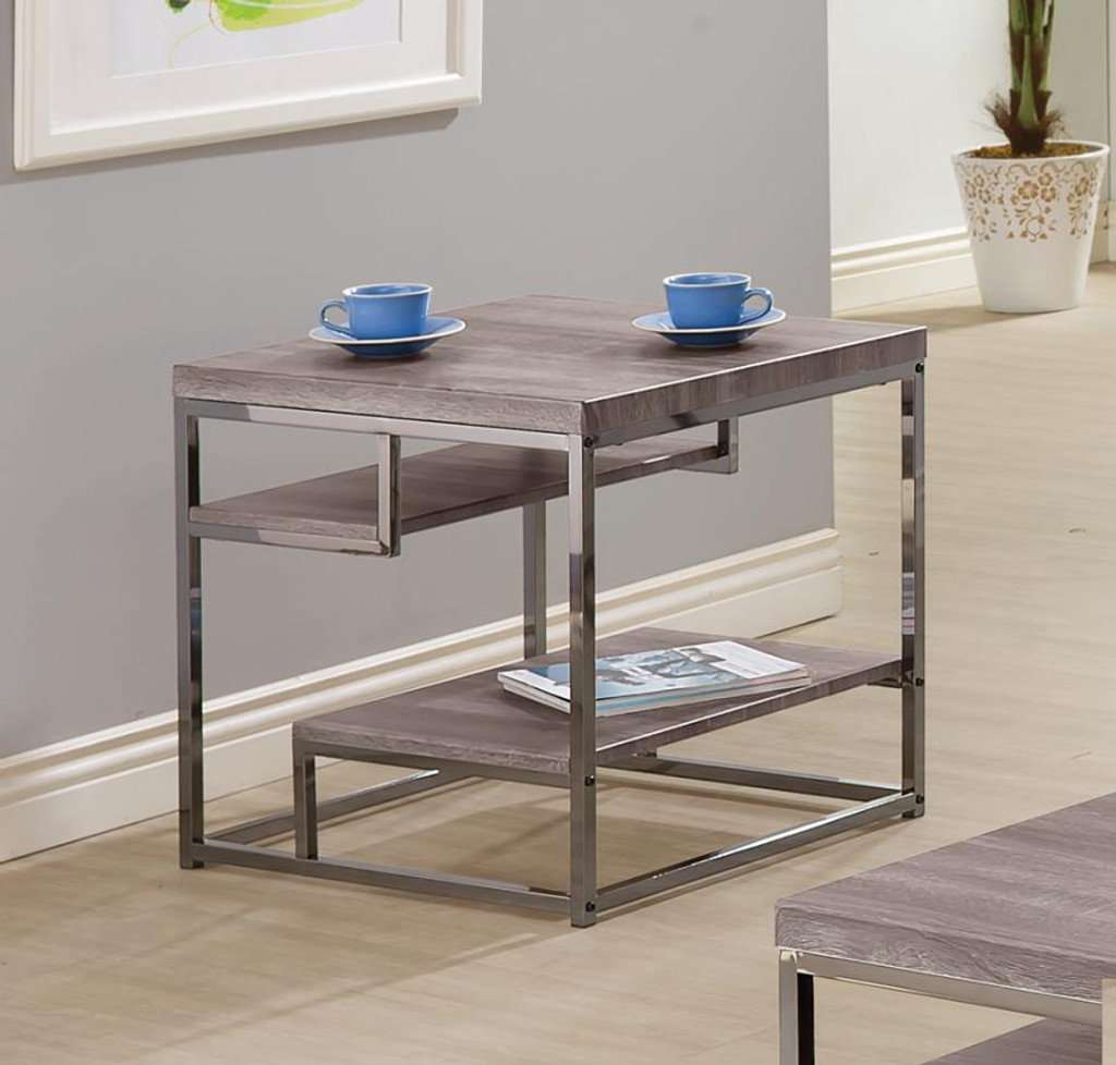 The Treymont Weathered 3pc Coffee Table Set